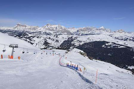 ski run under piz boe corvara