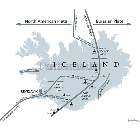 geology of iceland eurasian and north