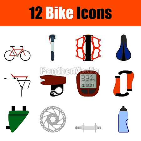bike icon set