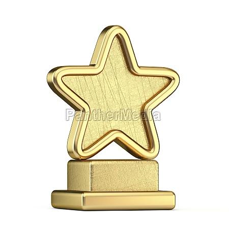 gold star trophy 3d