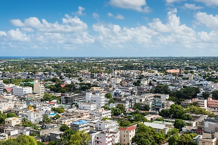 panoramic view of port louis mauritius