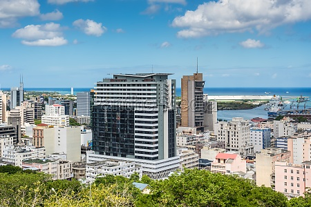 view of port louis mauritius africa