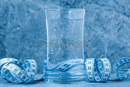 glass of clean water with a