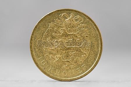 10 danish krone coin