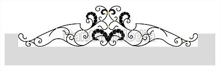 decorative fence black forged lattice fence