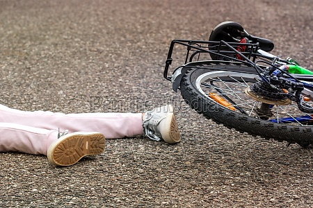 bicycle accident concept