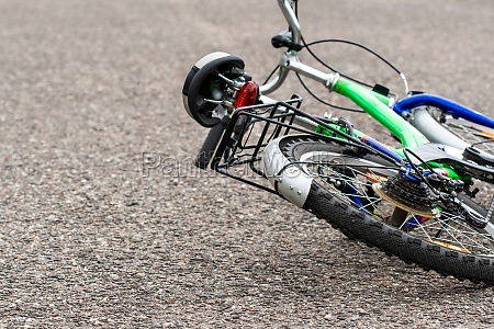 bike lying on the road