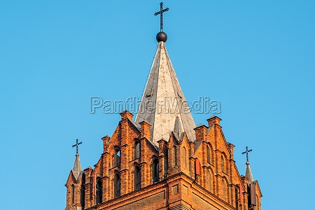church roof with a cross