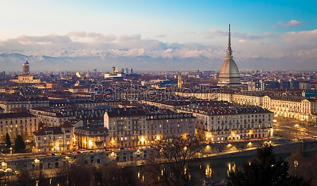 turin italy panorama from monte dei
