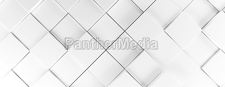 white cubes background 3d rendering