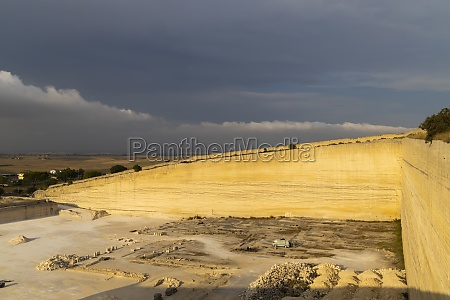 tuff quarry near matera basilicata italy