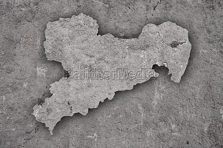 map of saxony on weathered concrete