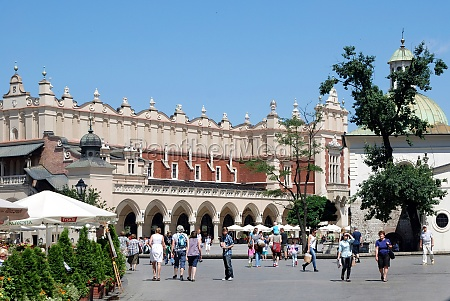 main square of krakow poland