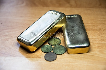 valuable gold bars
