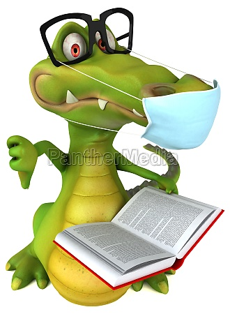 fun 3d cartoon crocodile with a