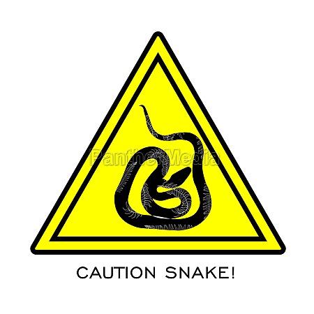 warning signs of attention venomous snakehazard