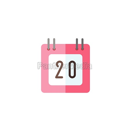 calendar diary date flat color icon