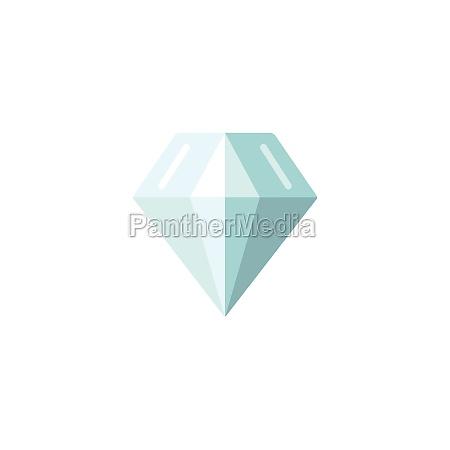diamond jewelry and luxury flat color