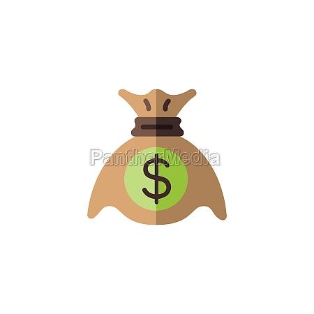 money bag sack with dollar symbol
