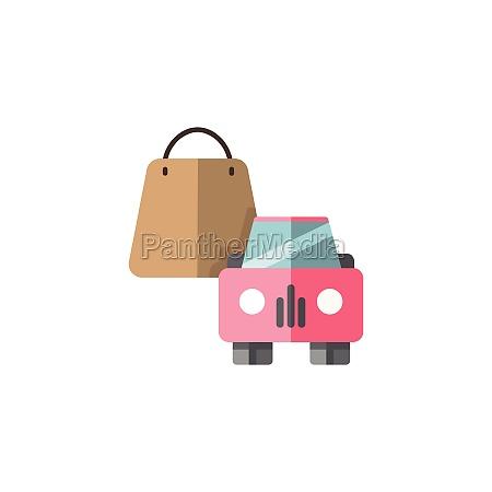 shopping bag and car pick up