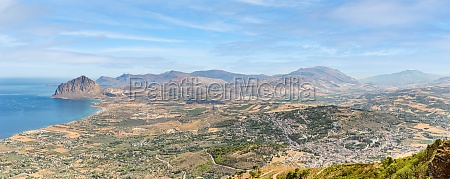 panoramic view of western sicilian landscape