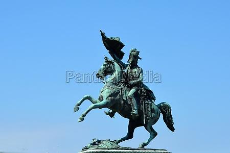 equestrian statue to archduke carles in
