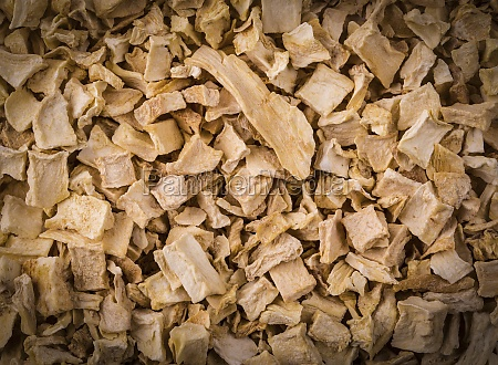 texture tasty spice mixture roots close
