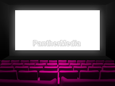 cinema movie theatre with pink seats