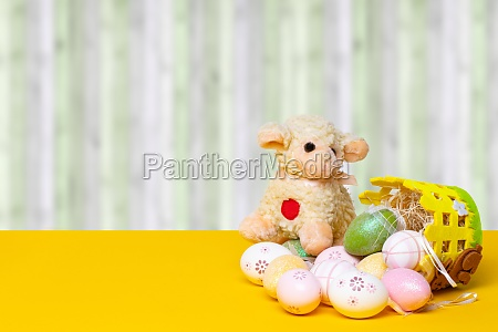 easter greeting card template decorative composition