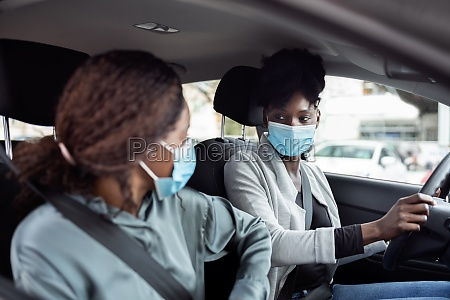 carpool inside people share car friends