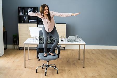 having fun at cool workplace