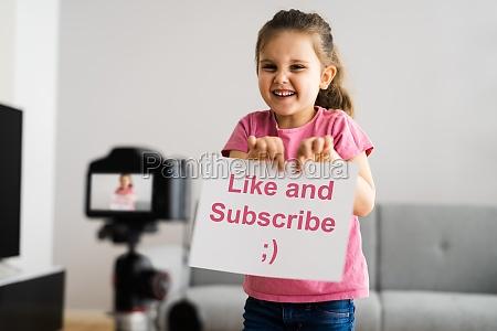 video blogger child