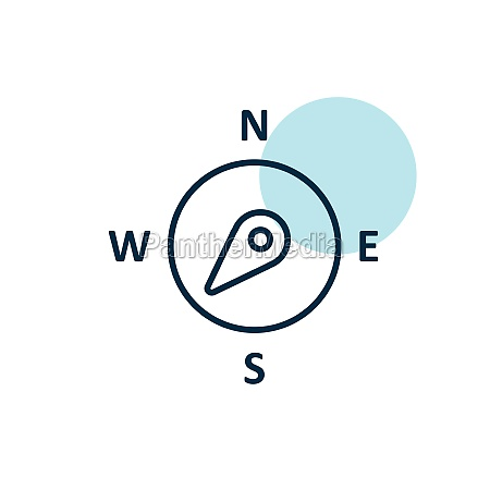 compass wind rose vector icon direction
