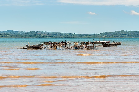 traditional malagasy boat canoe africa