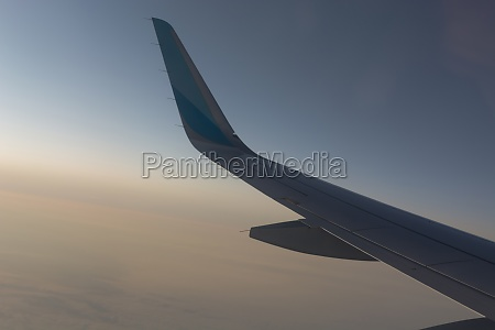 view of an airplane wing