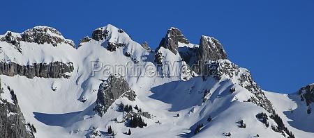 gams chopf and schwarzchopf mountains in