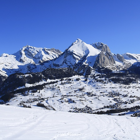 snow covered mountains of the alpstein