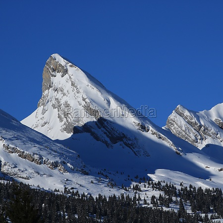 impressive peak of the churfirsten range