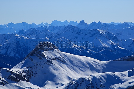 margelchopf and other mountains in winter