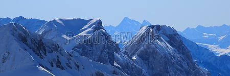 mountains of the swiss alps seen
