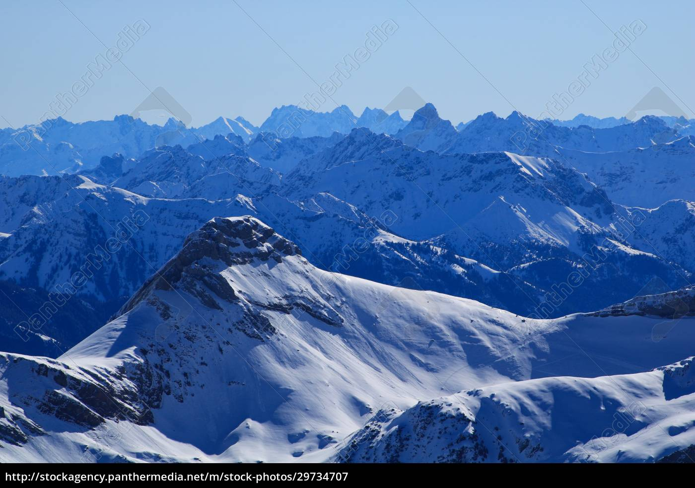 margelchopf, and, other, mountains, in, winter. - 29734707