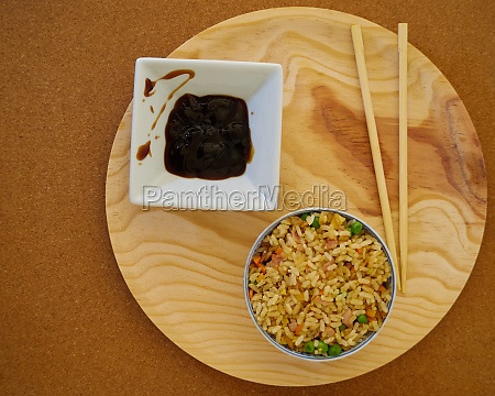 delcious special fried rice in a