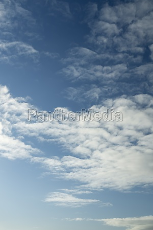 partly cloudy sky in winter
