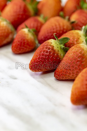 still life with strawberries on a