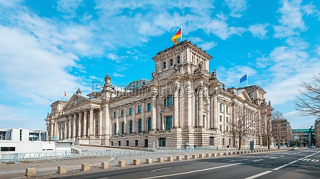 the famous reichstag building of berlin