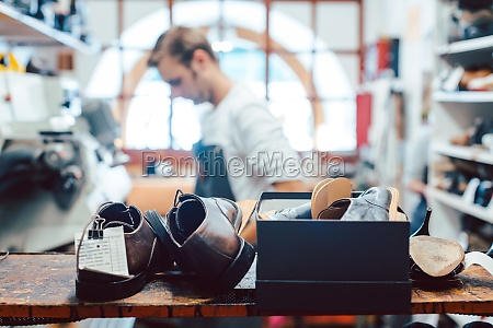 shoemaker or cobbler in his traditional