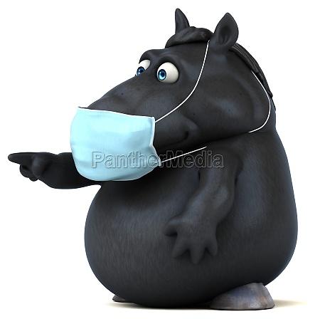 fun 3d cartoon horse with a