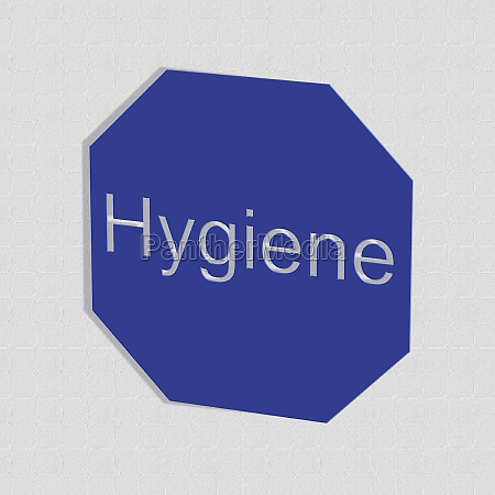 hygiene word or text as