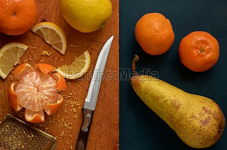 fresh fruit still life close up