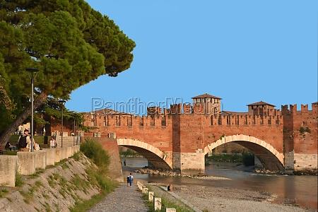 castelvecchio bridge ponte scaligero of verona